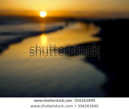 Bokeh nap szett tengerpart San Diego felhők Stock fotó © user_9323633