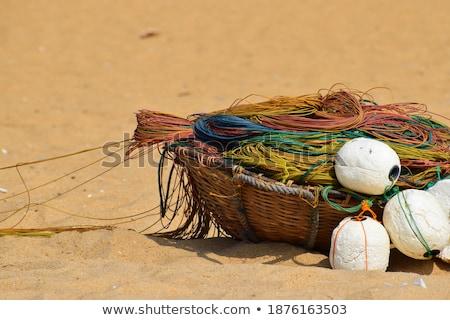 Floating fishnet Stock photo © olandsfokus