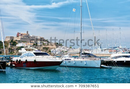 Waterside view to the Dalt Vila old town  Stock photo © amok