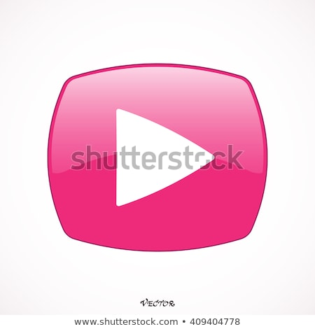 Pobrania wideo różowy wektora przycisk ikona Zdjęcia stock © rizwanali3d