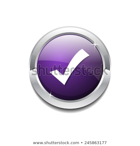 Tick Mark Circular Purple Vector Web Button Icon Stock photo © rizwanali3d