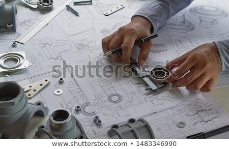 Industriële ontwerp staal trappenhuis fabriek gebouw Stockfoto © Hofmeester