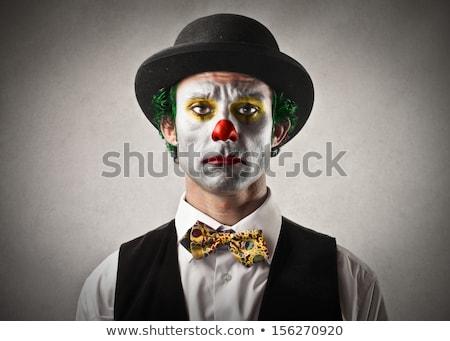 weinig · triest · clown · witte · kind - stockfoto © sapegina