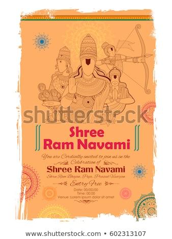 Baran ilustracja szczęśliwy kultu boga indian Zdjęcia stock © vectomart