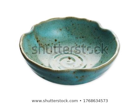 Bordo ciotola rosolare ceramica bianco piatto Foto d'archivio © Digifoodstock