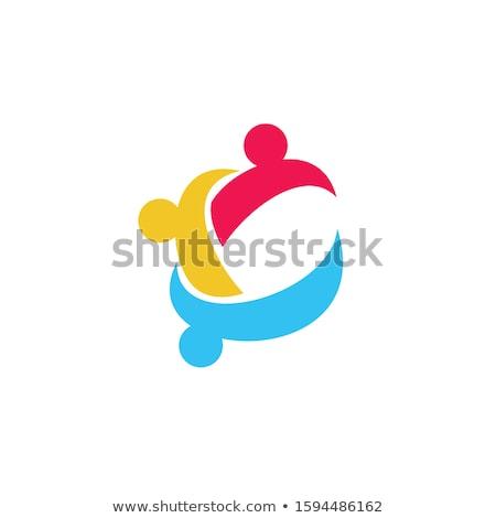 Creatieve kinderen gemeenschap logo-ontwerp merk identiteit Stockfoto © DavidArts