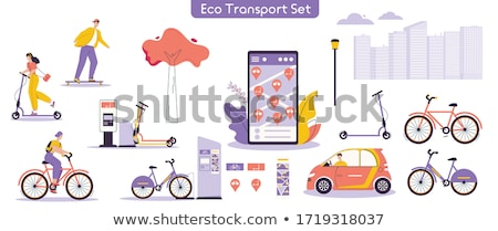 Alternatív szállítás jármű elektromos moped vektor Stock fotó © RAStudio