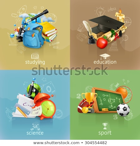 Back to School Posters Set Vector Illustration Stock photo © robuart