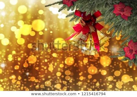 piękna · wesoły · christmas · złoty · powitanie · projektu - zdjęcia stock © sarts