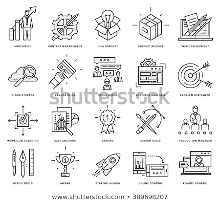 Transfer Icon. Thin Line Vector Illustration Stock photo © smoki