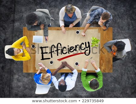 Efficient Word On Conference Table Stock photo © AndreyPopov