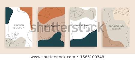 Zestaw charakter ilustracja drzewo chmury budynku Zdjęcia stock © bluering
