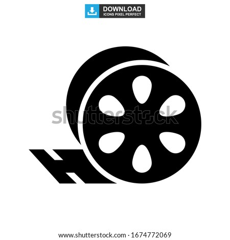 movie reel cinema people icon vector logo Stock photo © blaskorizov