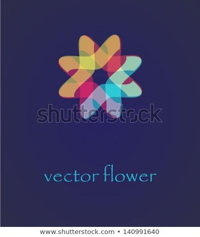 желтый звезды вектора геометрический логотип икона Сток-фото © blaskorizov