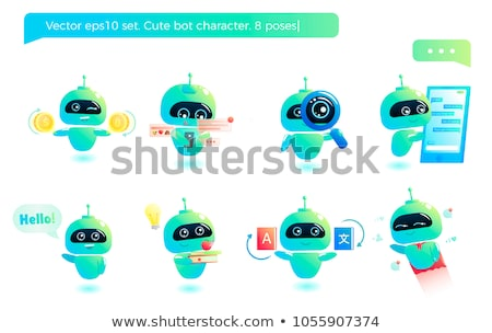 Set of bot character Stock photo © bluering