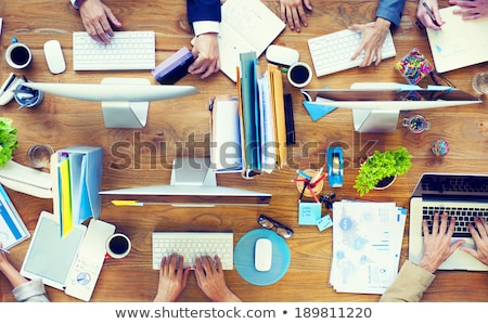 Business People Working in Office with Information Stock photo © robuart