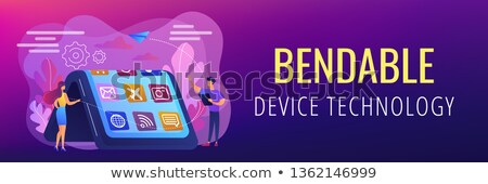 Bendable device technology concept banner header. Stock photo © RAStudio