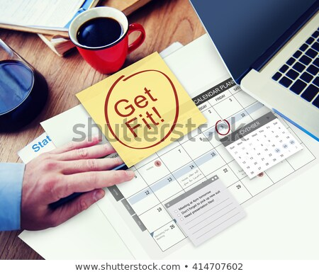 humans hand writing workout plan stock photo © andreypopov