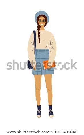 öğrenci model uzun saçlı sınav iş kadın Stok fotoğraf © ElenaBatkova