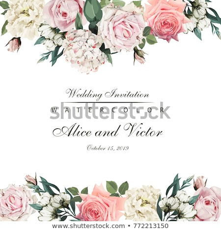Fashionable Invitation Birthday Postcard Vector Stock photo © pikepicture