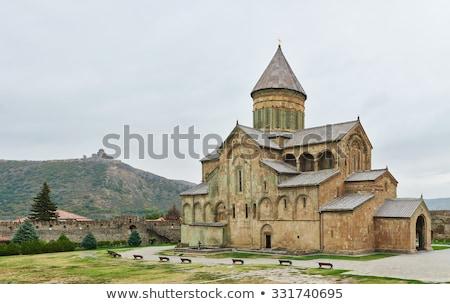 Kathedraal Georgië Oost orthodox historisch stad Stockfoto © boggy