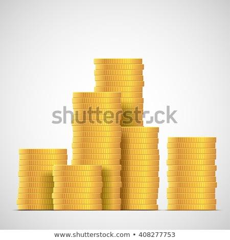 Złoty monety znak dolara odizolowany monet złota Zdjęcia stock © robuart