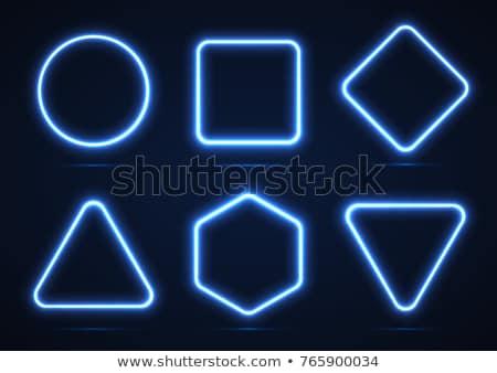 hexagonal shape neon light banner Stock photo © SArts