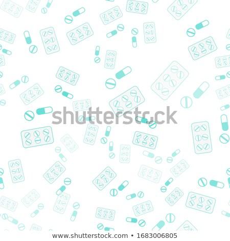 vetor · sem · costura · fino · linha · contorno - foto stock © pikepicture