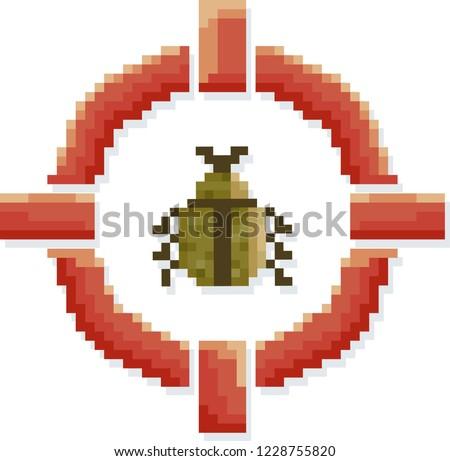 Cél rovar illusztráció pixel művészet szimbólum Stock fotó © lenm