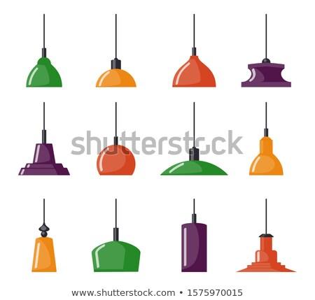 Asılı lamba ikon ince hat ev Stok fotoğraf © bspsupanut
