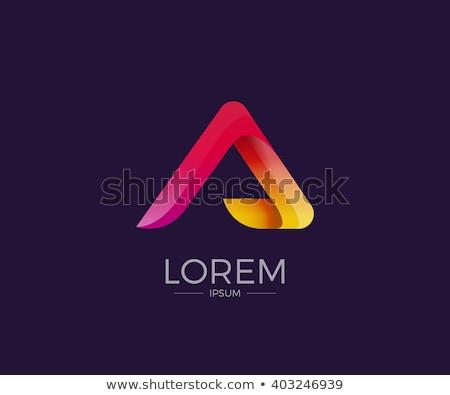 Iskola szín színes logo logotípus szó Stock fotó © vector1st