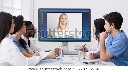 Young male doctor in telemedicine concept  Stock photo © Elnur