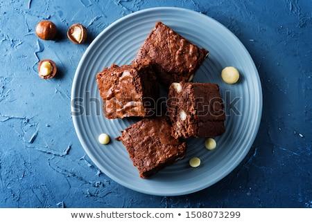 Pasta beyaz süt koyu çikolata karanlık gıda Stok fotoğraf © boggy