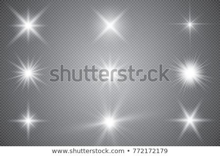 Star blanche transparent ensoleillée lueur Photo stock © evgeny89