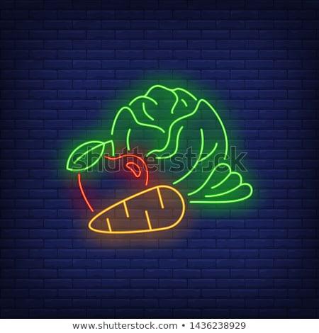 Kapusta neon zdrowa żywność promocji żywności charakter Zdjęcia stock © Anna_leni