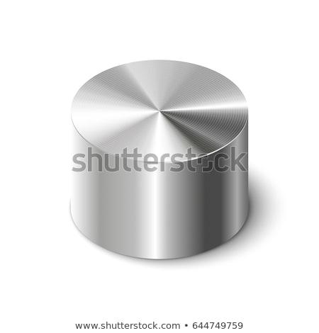 Metal silindir üç beyaz çelik Stok fotoğraf © guffoto