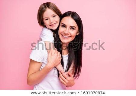 mamãe · filha · família · bebê · retrato · brinquedo - foto stock © oleksandro
