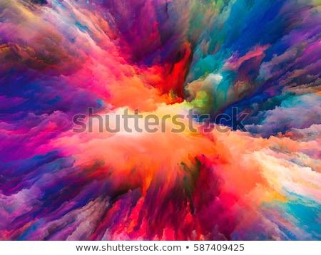 красочный аннотация фон оранжевый синий цветами Сток-фото © liliwhite