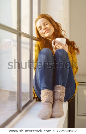 She Relaxes Stock photo © cboswell