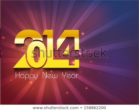 Foto stock / Ilustración de stock : 2014 Happy New Year Christmas