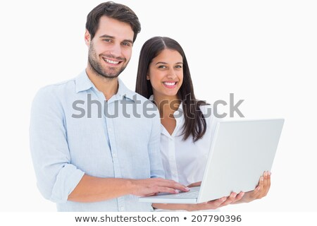 Young couple posing with their laptop Stock photo © photography33