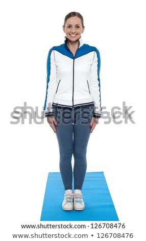 active female posing just before her workout session stock photo © stockyimages