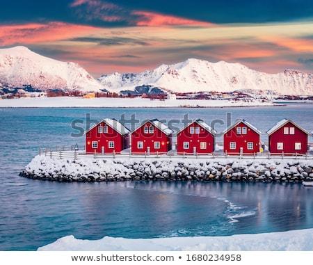 норвежский гор живописный горные покрытый Сток-фото © Harlekino