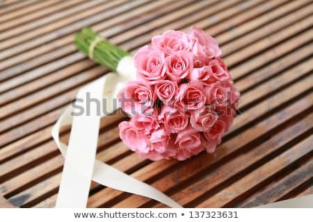 Canlı düğün çiçekler gelinler renkli Stok fotoğraf © KMWPhotography