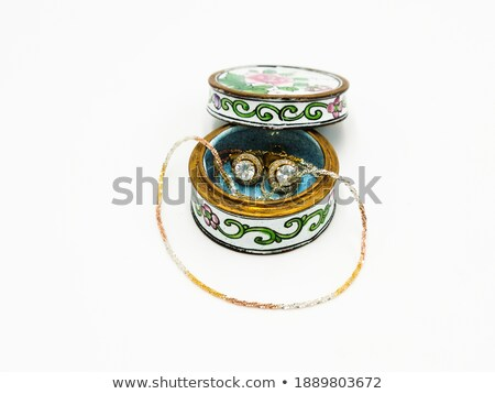 Porcelana biżuteria pola dwa starożytnych malowany Zdjęcia stock © lunamarina