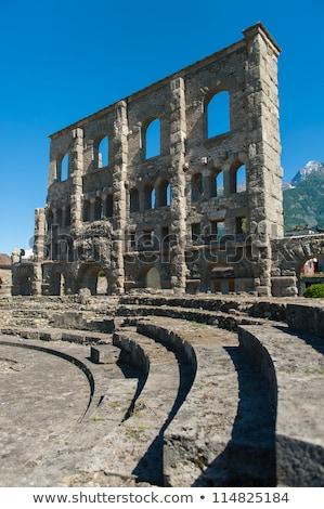 римской театра руин гор архитектура играть Сток-фото © claudiodivizia