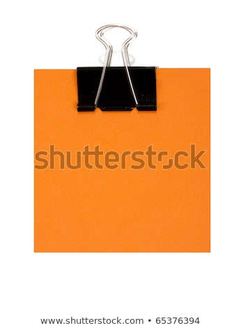 Orange postit holder Stock photo © vankad
