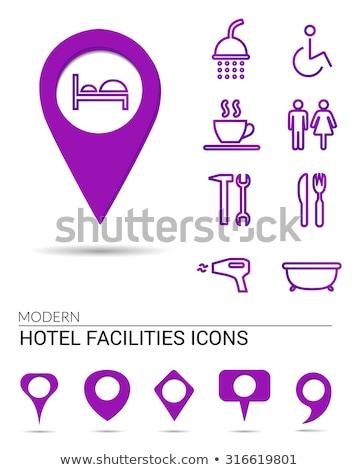 Wheel Chair Purple Vector Icon Button Stock photo © rizwanali3d