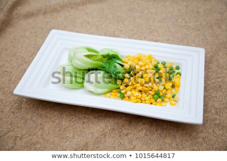 china delicious food-- corn and pine nuts Stock photo © wxin