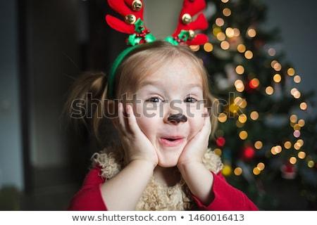 Bébé Noël robe cute fille Photo stock © eleaner